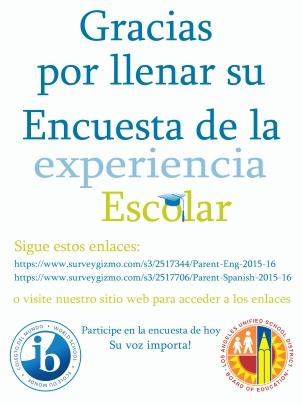 School Survey_spanish poster